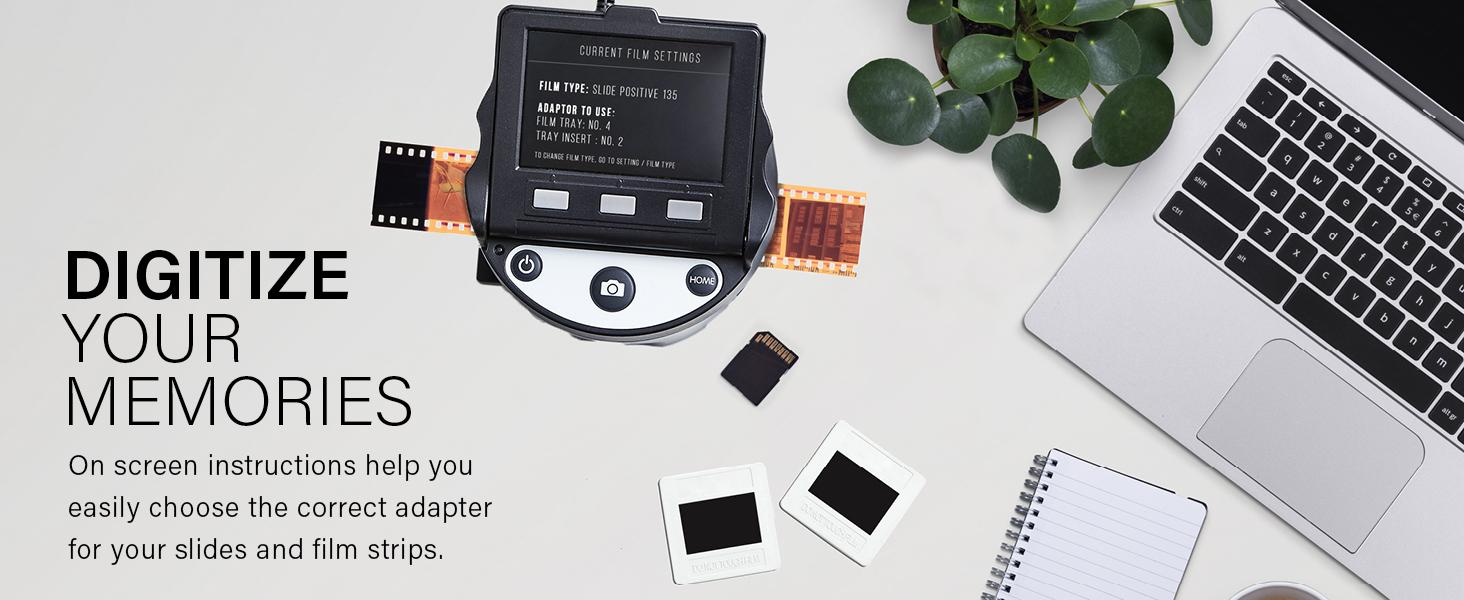 On screen LCD display for sigital scan scanner kodak film negative positive instant jpeg