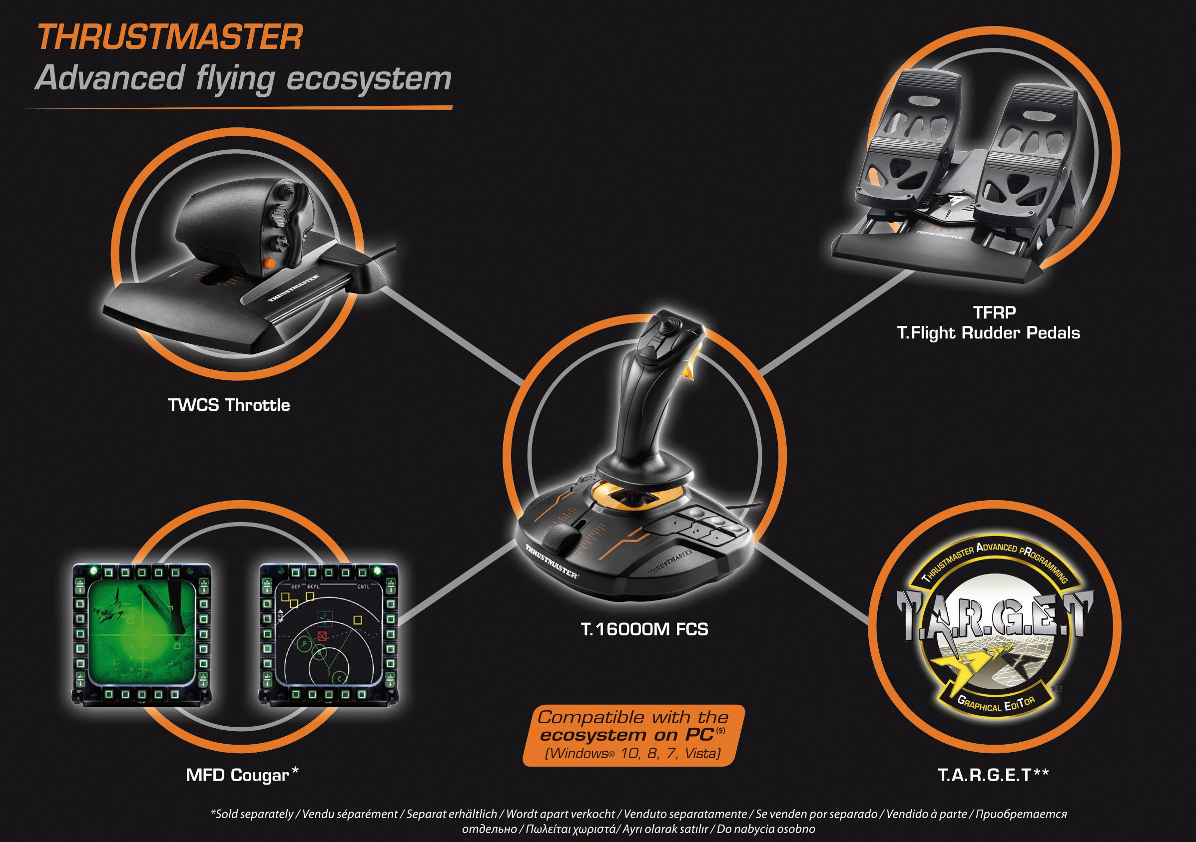 Thrustmaster T 16000M FCS Flight Pack