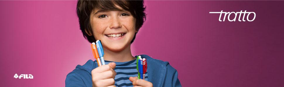 Tratto; penna cancellabile; frixion; inchiostro cancellabile; scrivere; penna con gomma