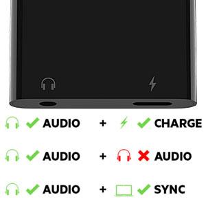 音楽を楽しみながら、充電やデータ転送が可能
