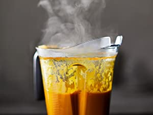 Steam coming from Soup in Vitamix Container