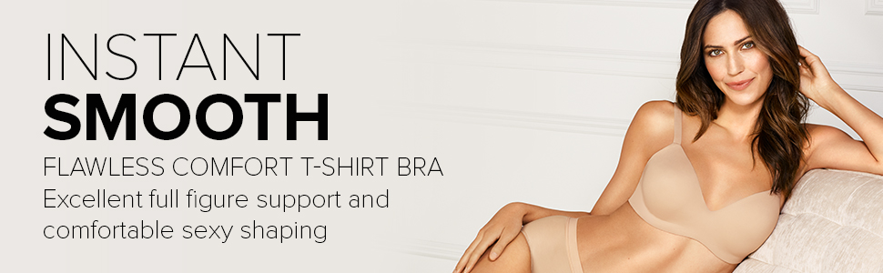 Wacoal Flawless Comfort T Shirt Bra, full support, with silky smooth lightweight spacer cups.