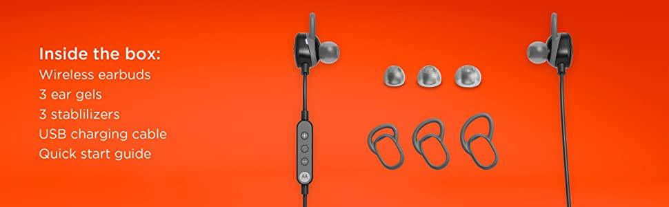 Motorola VerveLoop Super Light, Wireless, Stereo Earbuds