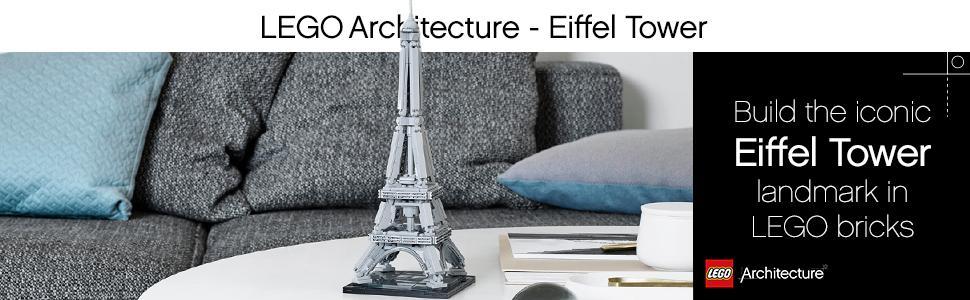 lego architecture, the eiffel tower, paris, france