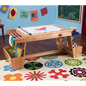 Kidkraft art table with drying rack and for Amazon arts and crafts for kids