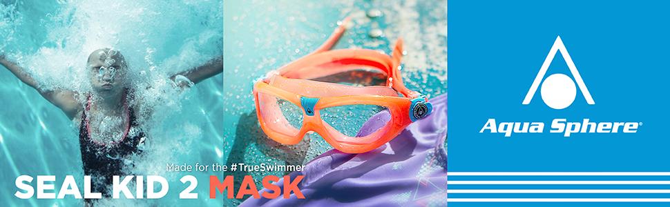 7cf8f543950 Aqua Sphere Children's Seal Kid 2 Swimming Goggle, Mask