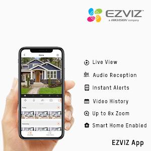 EZVIZ App, outdoor camera with app, outdoor camera with remote access,