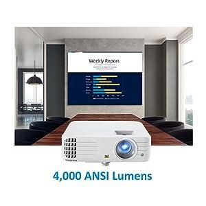 Viewsonic Pg706hd Business Dlp Beamer Full Hd 4 000 Ansi Lumen Hdmi Usb 10 Watt Lautsprecher 1 1x Optischer Zoom Weiß Heimkino Tv Video