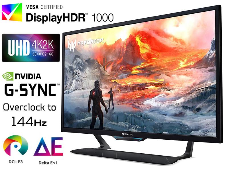 """Predator CG437K 43"""" NVIDIA G-SYNC 4K UHD Gaming 144Hz Monitor"""
