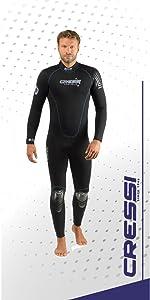 cressi, wetsuit, pentagon, scuba diving, snorkeling, free diving