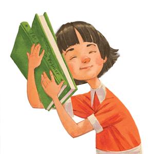 Beverly Book hugging