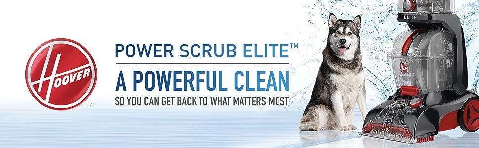 hoover power scrub elite carpet cleaner cleaning clean shampoo shampooer floor