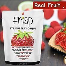 Real crispy strawberries