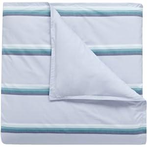 lacoste wind duvet cover comforter stripe gray green soft cotton style bedroom guestroom bedspread