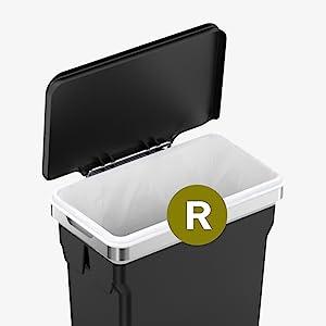 Simplehuman 10 Liter 2 6 Gallon In Cabinet Trash Can Heavy Duty Steel Frame Black