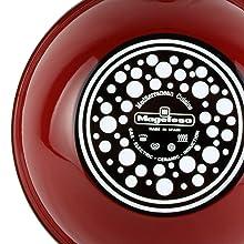 Magefesa Toscana Terracota Wok 28 cm de Acero esmaltado, Antiadherente Multicapa Efecto Piedra, Color marrón Exterior. Apto para Todo Tipo de cocinas, ...