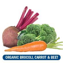 Organic Broccoli, Carrot, Beet