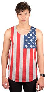 da1b7478b80783 Brooklyn Surf Men s American Flag Sleeveless Jersey Tank Top · Brooklyn  Surf Men s USA American Flag Sleeveless Jersey Tank Top · Brooklyn Surf  Men s ...