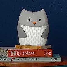 owl night light, white noise machine for baby, soother, baby sound machine night light