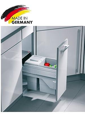 Hailo Cargo Soft Küchen-Abfalleimer, Kunststoff, Grau, One Size, 25