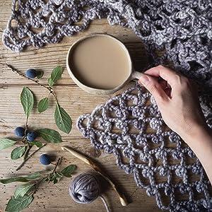 winter paintile shawl emma mitchell nature crafts scandinavian hygge crochet craft book autumn cosy