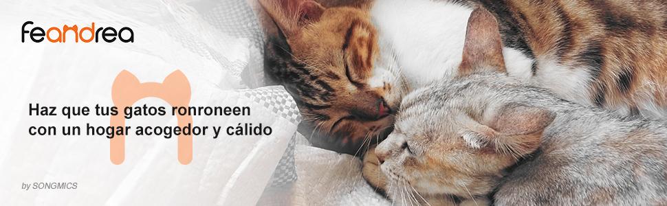 FEANDREA Árbol para Gatos, con Plataforma de Observación XXL, Tumbona de la Cesta y Cueva Grande, Postes Gruesos Envueltos en Sisal, Estable, Gris Claro PCT02W: Amazon.es: Productos para mascotas