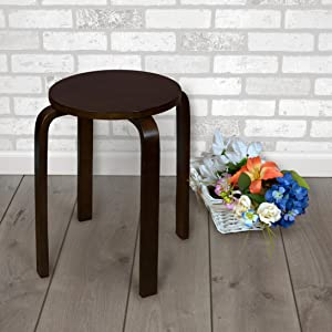 regency, niche, mia, mocha walnut, stool, seat, side table, bentwood, brown, brick wall