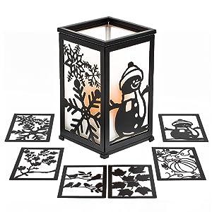 Decorative Flameless Hurricane Lantern