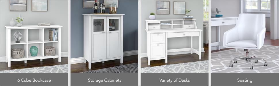 bush furniture,broadview,pure white,white,Contemporary,bush,bush industries