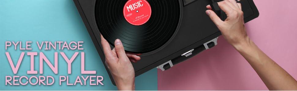 vinyl record player pyle;wooden handmade;vintage record player cabinet;record player brown;