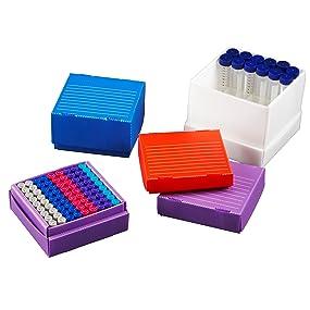 True North Freezer Box Heathrow Scientific Polypropylene 1.5mL 2mL mold resistant reusable lab