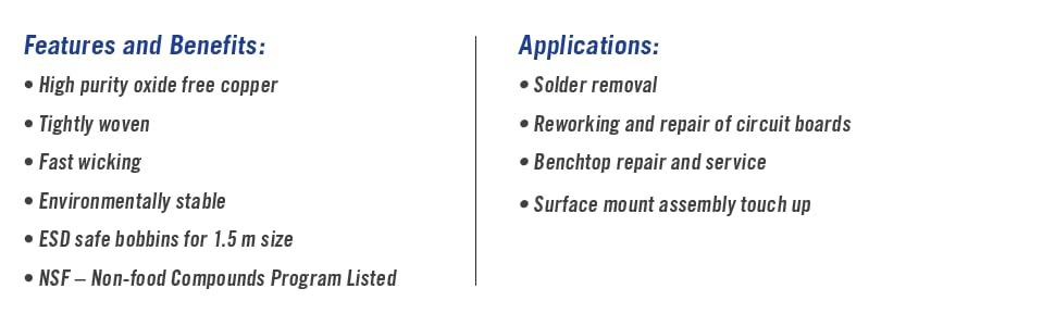 443 Desoldering Braid Fine Super Wick RMA Flux 25/&39 Length /& MG Chemicals