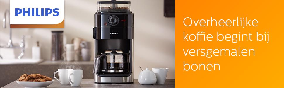 Koffiezetapparaat Grind & Brew HD7767/00