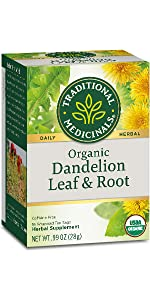 Traditional Medicinals Organic Dandelion Leaf & Root Herbal Tea