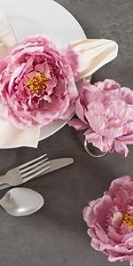 napkin rings,flower ring,wedding napkin ring,napkin rings flower,summer wedding flowers,floral ring