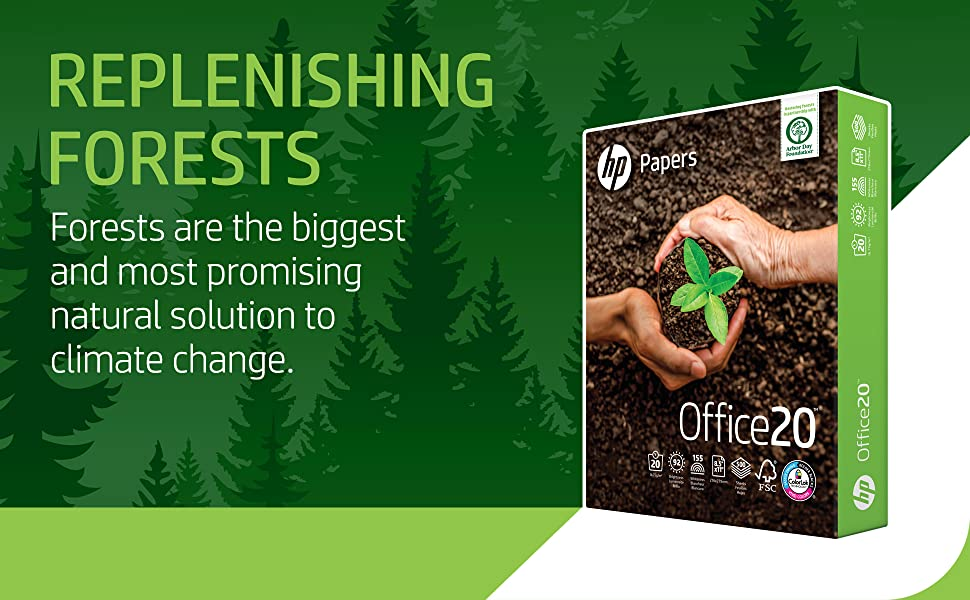 Office20 HP Paper package Replenishing Forests are the biggest and most promising natural solution
