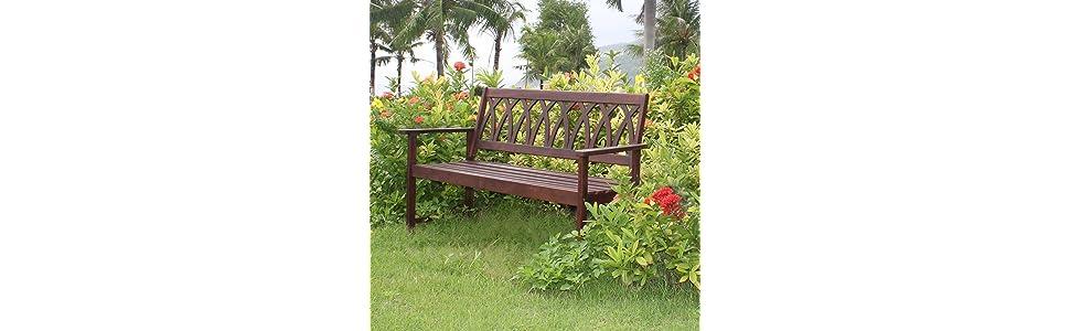 Astounding Amazon Com Northbeam Criss Cross Acacia Wood Outdoor Dailytribune Chair Design For Home Dailytribuneorg