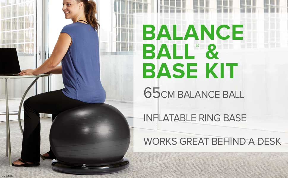 Gaiam Balance Ball & Base Kit