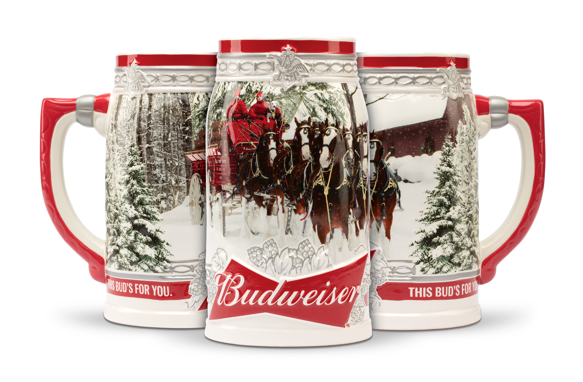 Amazon Budweiser 2017 Holiday Stein 31 ounce Kitchen & Dining