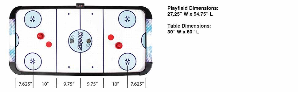 Air Hockey Game Table Compact Family Gameroom