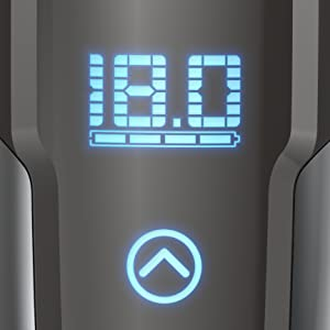 battery indicator view digital display rechargeable charging lithium cord cordless