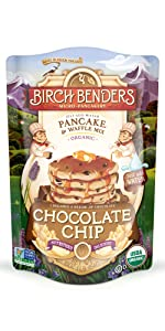 birch benders chocolate chip organic pancake waffle mix