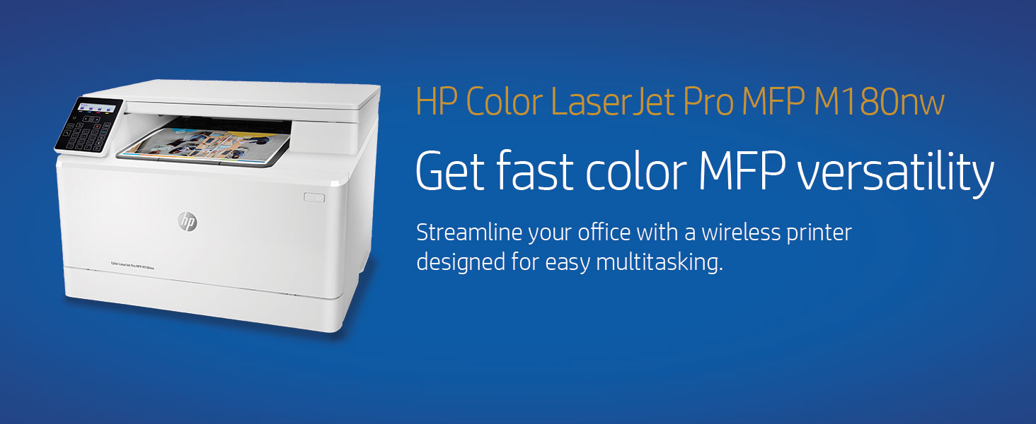 HP Color Laserjet Pro M180nw All in One Wireless Color Laser Printer, Amazon Dash Replenishment ready with Mobile Printing & Built-in Ethernet ...