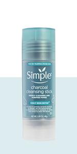 Daily Skin Detox Charcoal Cleansing Stick 45 g reinigt, zuivert poriën, met bamboe houtskool