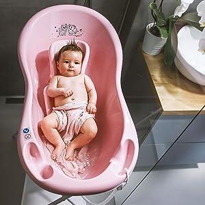 Baby Infant Newborn Bath Wash Washing Tub Portable Bathtub Bucket Plastic 100cm Pink Zebra