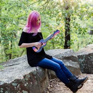 flight ukuleles, flight, music, elise ecklund, artist series, flight artist, flight music, uke