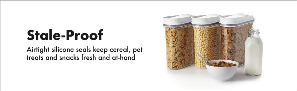 Amazon Com Oxo Good Grips 3 Piece Airtight Pop Cereal