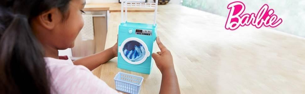 Barbie Ken Muñeco con lavadora Giratoria y Accesorios de la Colada ...