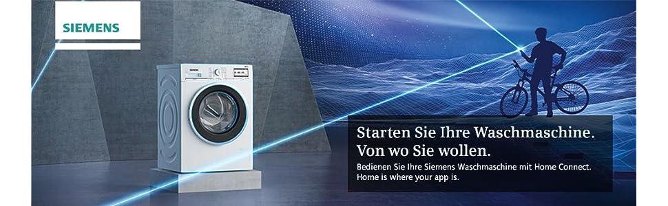 siemens wm6yh840 iq800 home connect stand waschmaschine wei waschvollautomat frontlader iqdrive. Black Bedroom Furniture Sets. Home Design Ideas