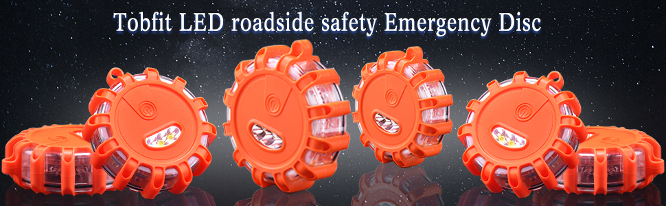 Tobfit 6 Pack LED Road Emergency Lights Roadside Safety Beacon Disc